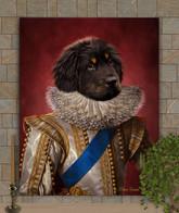Prince Lafayette Period Style Custom Pet Portrait Painting