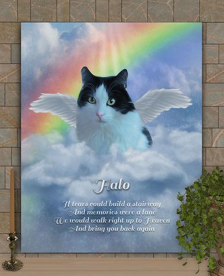 Angel Wings Pet Memorial Custom Pet Port