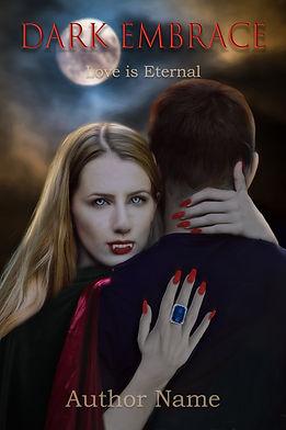 Dark Embrace Vampire Premade Book Cover For Sale