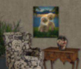 Sunset Fire Custom Pet Portrait Painting