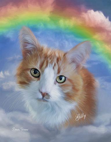 Heavenly Rainbow Custom Pet Memorial Por