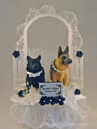 Dog Bride and Groom Wedding Cake Topper