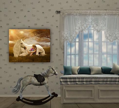 Custom Child Fairytale Portrait Painting