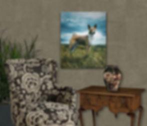 Cliff Hanger Custom Oil Pet Portrait Pai