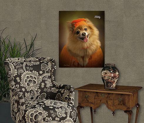 Autumn Dance Custom Dog Portrait Paintin