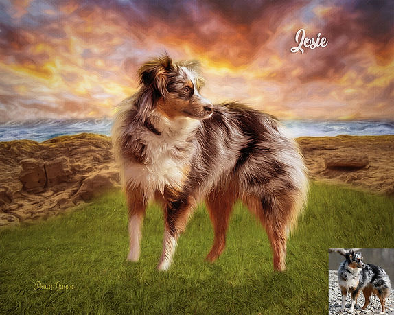 Sea Cliffs Custom Digital Oil Pet Painti