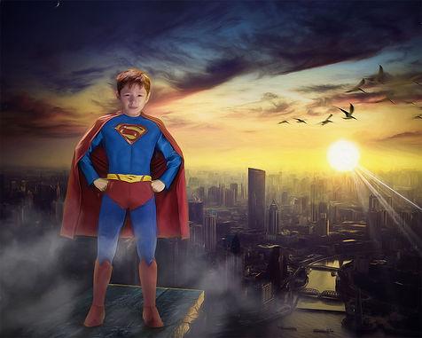 Superman Boy Child Fantasy Portrait Pain