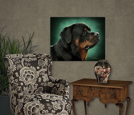 Emerald Halo Custom Digital Oils Dog - H