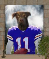 Football Player Custom Pet Portrait Painting