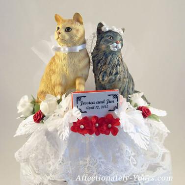 Custom Cat Bride and Groom Cake Topper