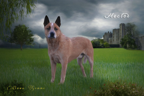 Country Castle Custom Pet Portrait Painting