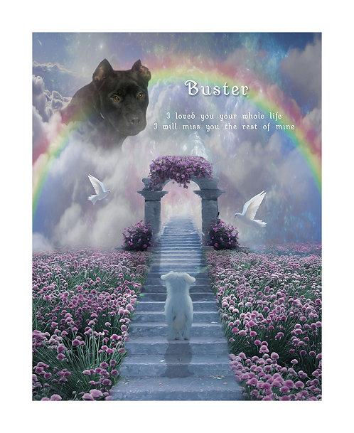 Stairway To Heaven Pet Memorial Portrait Painting