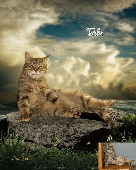 High Tide Custom Digital Oil Pet Dog Pai
