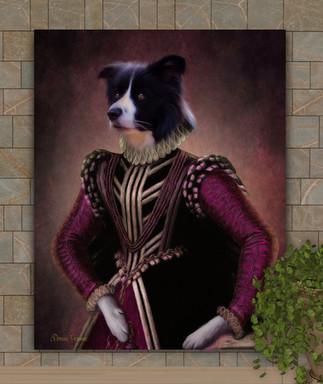 Countess Rose Period Style Custom Pet Portrait Painting