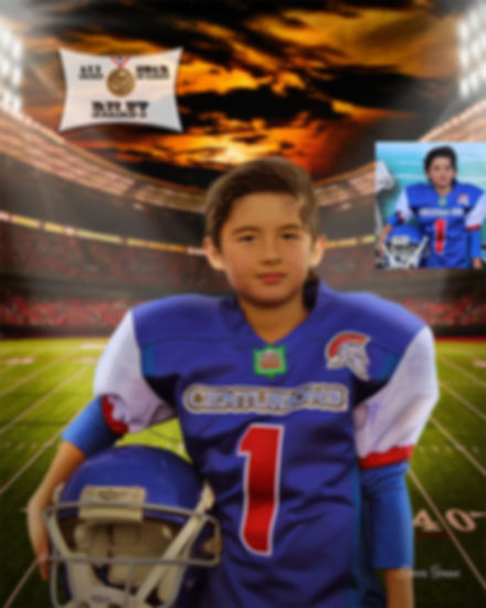 Football Custom Childs Portrait