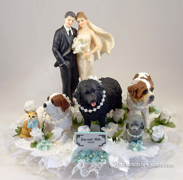 Yours Mine Ours Pets Custom Wedding Cake Topper