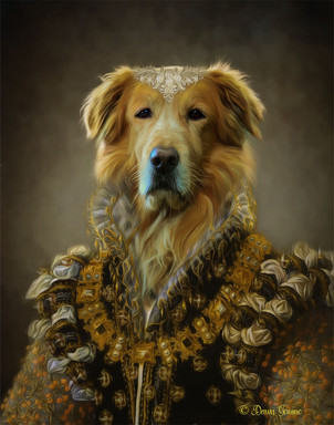 Duchess Hannah Period Style Custom Pet Portrait Painting