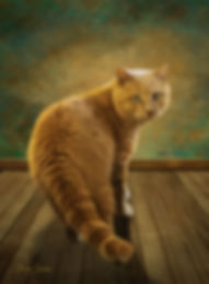 Custom Cat Digital Oil Portrait