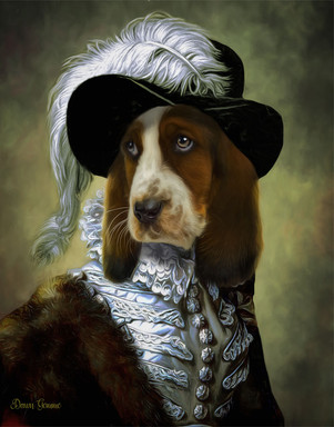 The Spinster Period Style Custom Pet Portrait