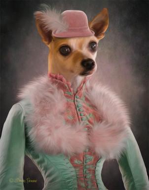 Lady Margaret Period Style Pet Portrait Painting