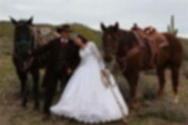 Western Wedding Before Photo With Horses