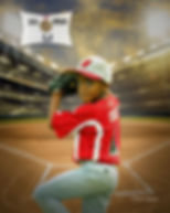 Custom Childs Baseball Portrait