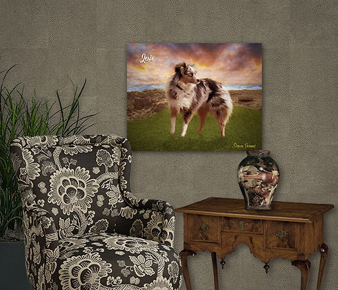Sea Cliffs Custom Pet Painting