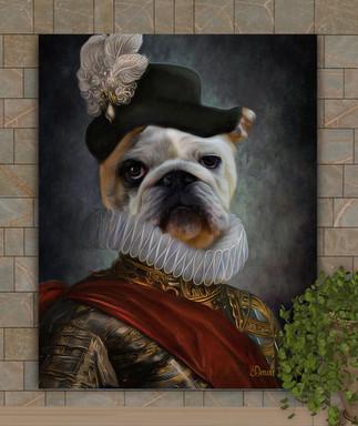 The Aristocrat Period Style Custom Pet Portrait Painting