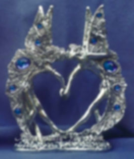 Pewter Fairy Wedding Cake Topper