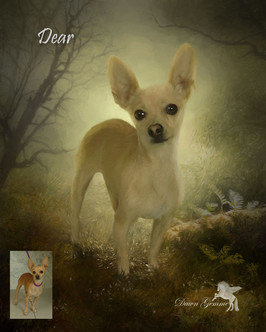 Autumn Brown Custom Pet Portrait Painting