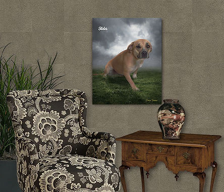 Custom Digital Oil Pet Portrait Painting