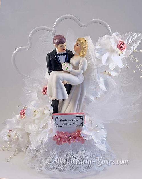 Always and Forever Bride and Groom Customized Wedding Cake Topper