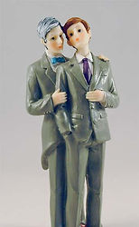 Same Gender - Two Grooms - 2 Brides Cake Toppers