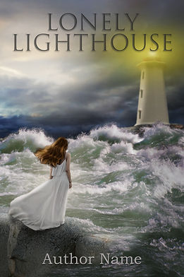 Lonely Lighthouse Premade Mystery Romance Book Cover