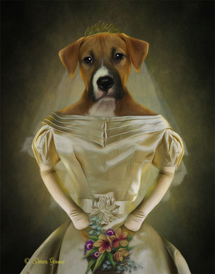 Bride Period Style Custom Pet Portrait P