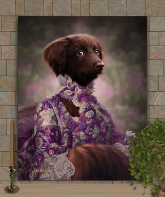 Countess Dinah Period Style Custom Pet Portrait Painting