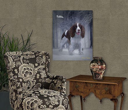 Winter Woods Custom Pet Portrait