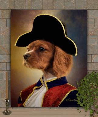 Napolean Period Style Custom Pet Portrait Painting