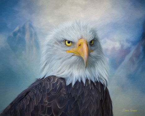 Majestic Eagle Digital Oil Painting
