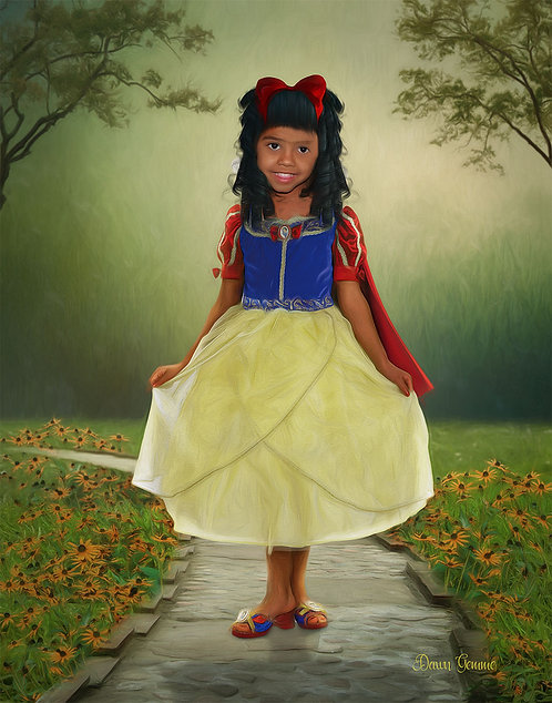 Child Fairytale Portrait Painting For Girls