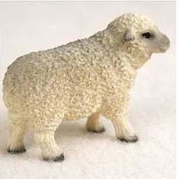 Sheep Figurine For Farm Wedding Cake Topper