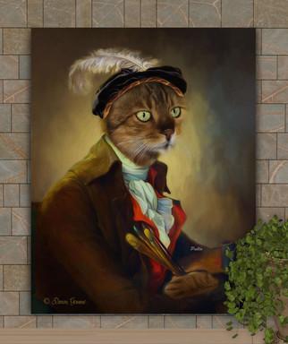 The Artist Period Style Custom Pet Portrait Painting
