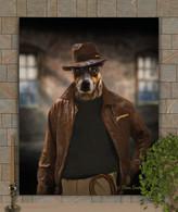 Indiana Jones Custom Pet Portrait Painting