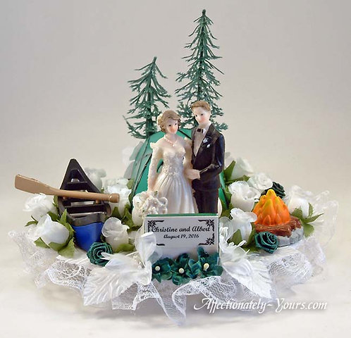 Under The Stars Camping Theme Customized Wedding Cake Topper