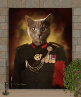 Officer Hiram Period Style Custom Pet Portait Painting
