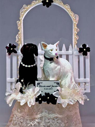 Dog and Cat Wedding Cake Topper