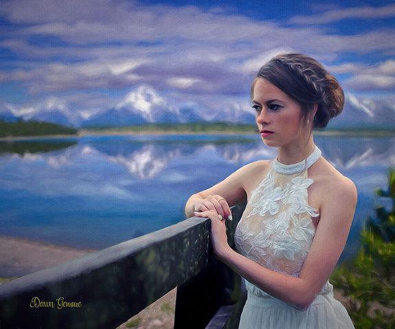 Custom Bride Portrait Painting