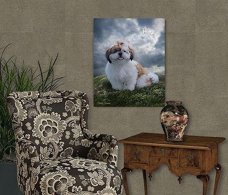 Hillside Haven Custom Pet Oil Painting