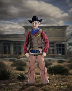 Cowboy Sherriff Custom Child Fantasy Portrait