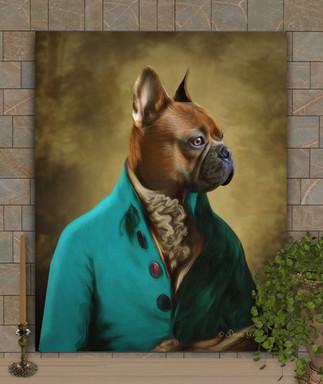 Sir Granville Period Style Custom Pet Portrait Painting